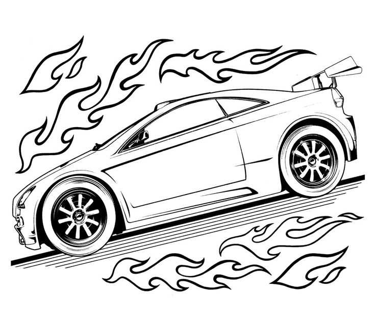 17 Best images about Hot Wheels Coloring Pages on