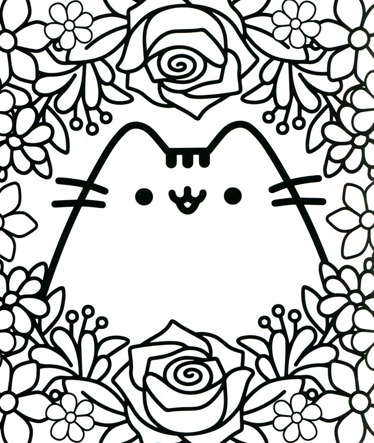 Pusheen Coloring Pages Mermaid Coloring Pages Pusheen