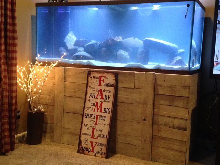 Pallet fish tank aquarium stand  For the Home  Pinterest  Aquarium stand Pallets and Aquarium