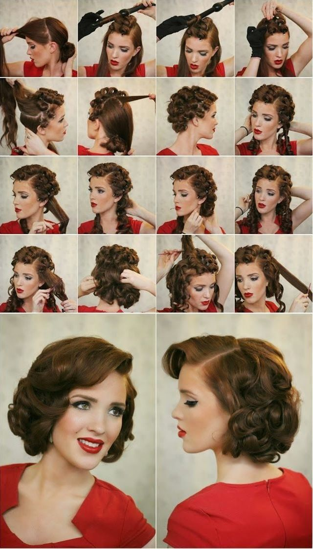 21 Best Images About Peinados Vintage On Pinterest Updo Pin Up