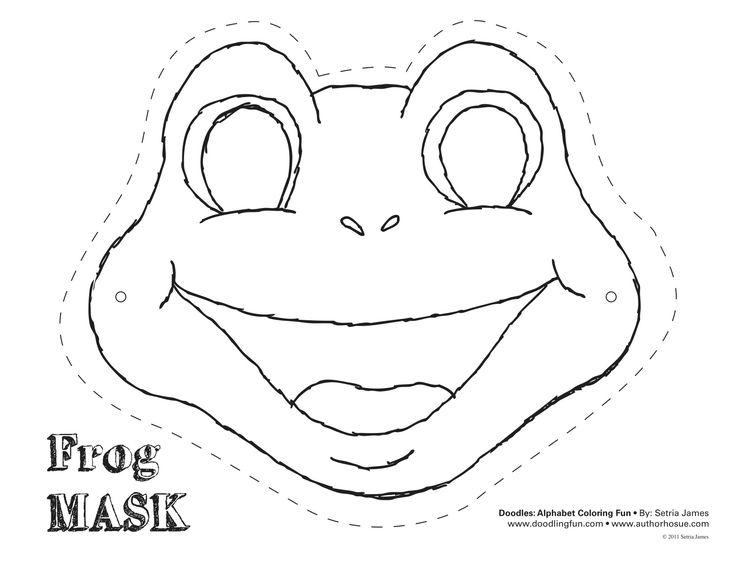 Frog mask! #theatrics #kiddos #play #craft #coloring