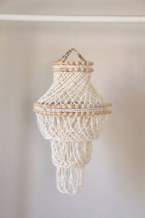 Vintage Handmade Shell Chandelier  Jewels Shell