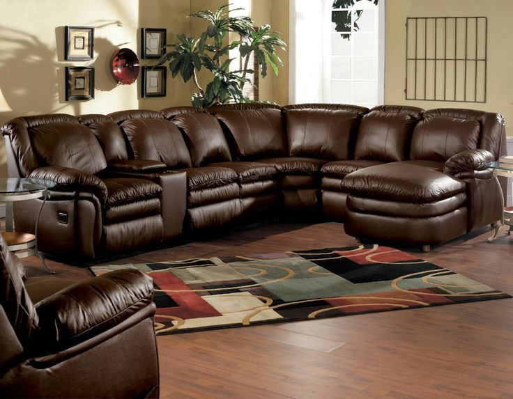 Ultimate Comfort! Reclining Leather Stallion Sectional