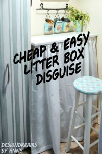 Quick & Easy Litter Box Disguise   Litter box and Boxes