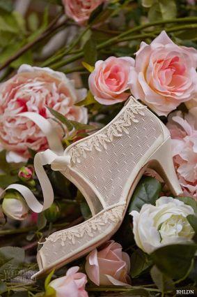 bhldn spring 2015 bridal bohemian satin wrapped medium heel wedding shoes swiss dot botties