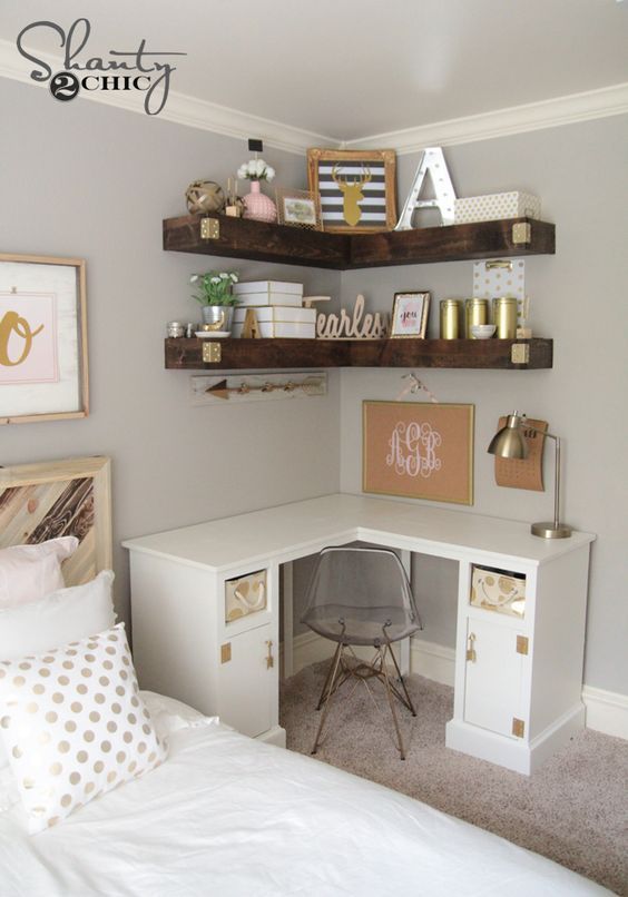 Add More Storage To Your Small E With Some Diy Floating Corner Shelves Repin And