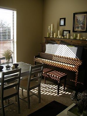 1000 Images About Decorating With A Piano On Pinterest Piano Upright Piano And Dining Rooms
