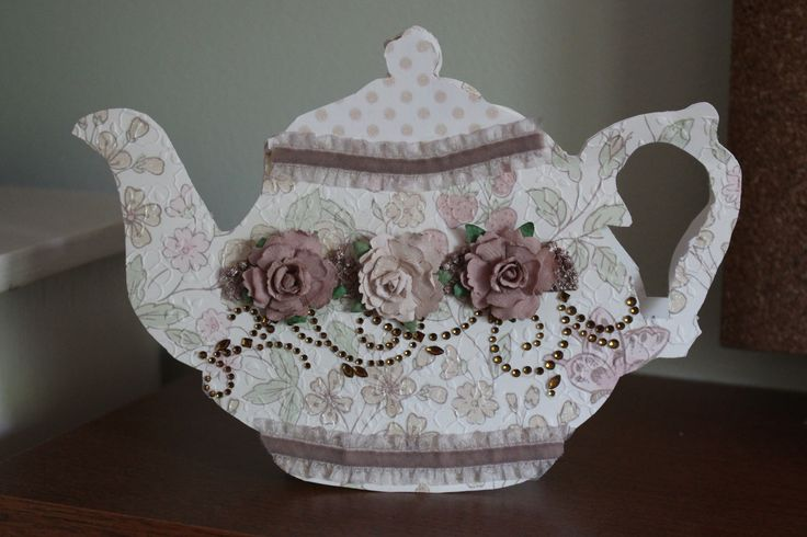 Embossed Teapot Card Favourite Cards Pinterest