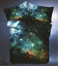 LELVA Galaxy Bedding Set Galaxy Duvet Cover Set Kids ...
