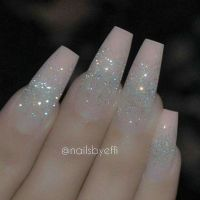 Pink silver glitter acrylic nails winter nails - http ...