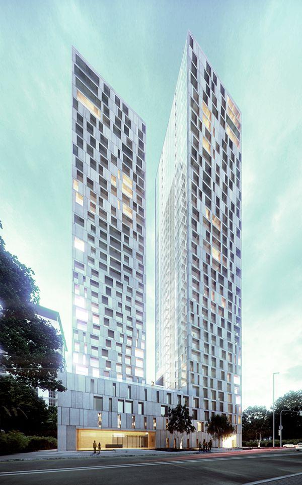 Jalan Stonor Luxury Residential HighRise  Fourfoursixsix architecture k  Modern