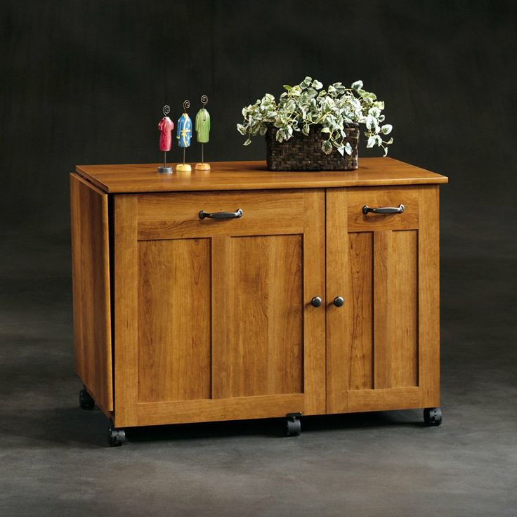 Sauder Sewing Craft Table  American Cherry  Sewing