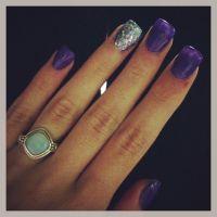 Purple acrylic nails | Purple Acrylic Nails | Pinterest