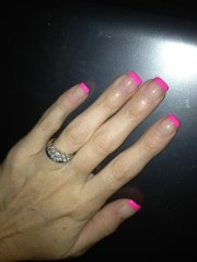 pink french manicure nails