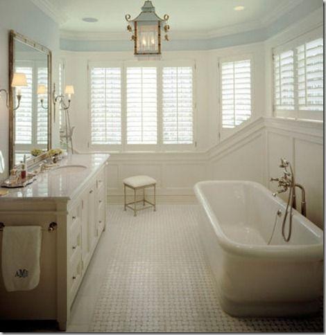 basketweave marble tile bathroom floor  this is more like