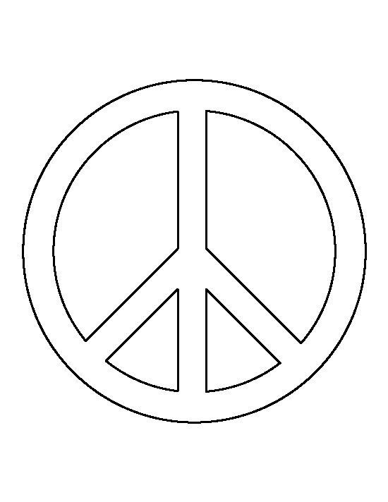 Peace Sign Pattern Use The Printable Outline For Crafts