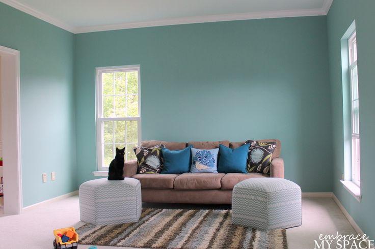 Covington Blue Paint by Benjamin Moore  Paint  Pinterest