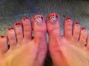 halloween nail art orange tip