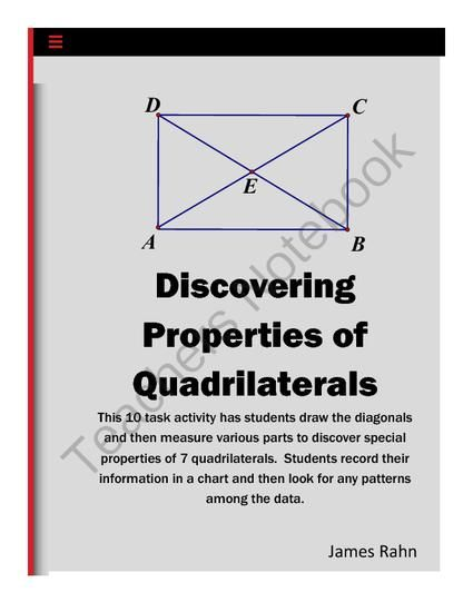 17 Best images about Geometry: Quadrilaterals on Pinterest