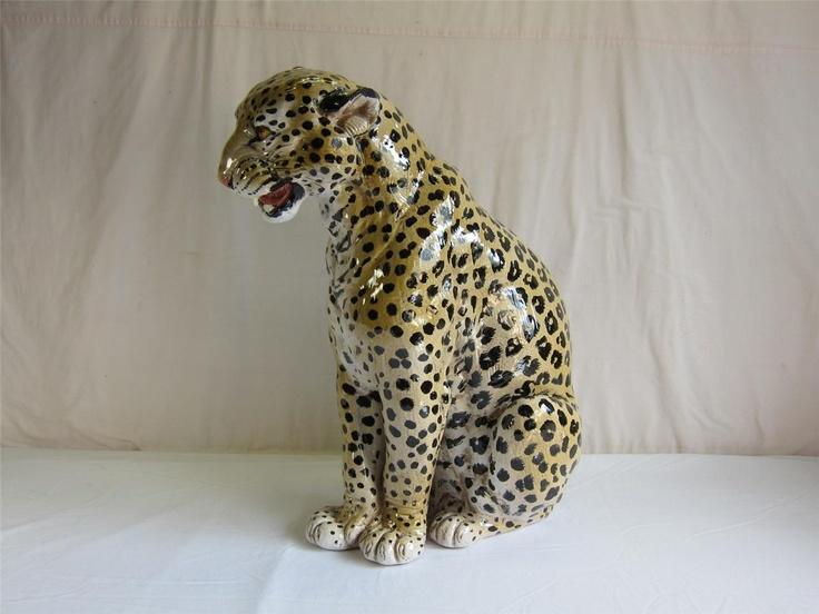 Italian Ceramic Leopard eBay 1500  Vintage  Pinterest