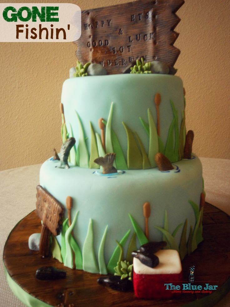 Fishing Themed Retirement Cake Ideas And Designs