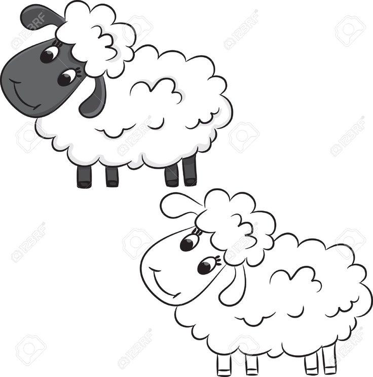 Cartoon Sheep. Coloring Book. Royalty Free Cliparts