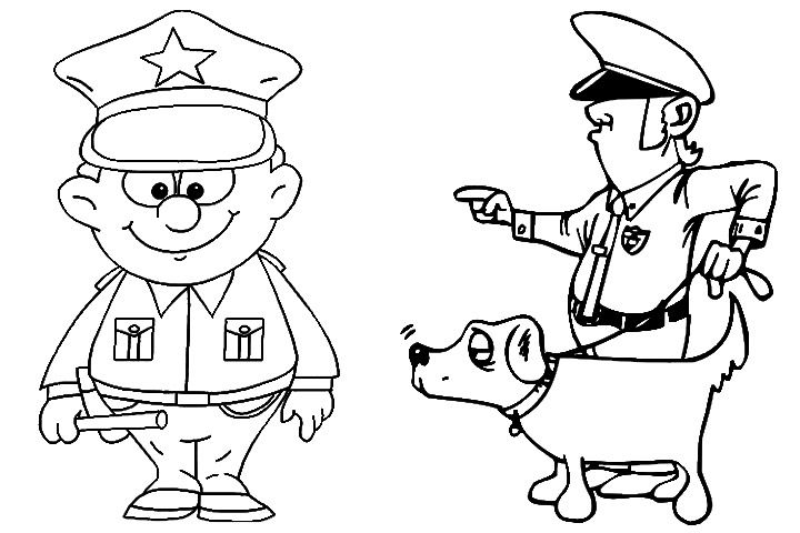 10 Best Police & Police Car Coloring Pages Your Toddler