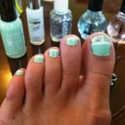 mint green toenails - driverlayer
