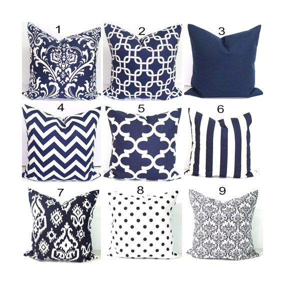 25+ best ideas about Navy Pillows on Pinterest