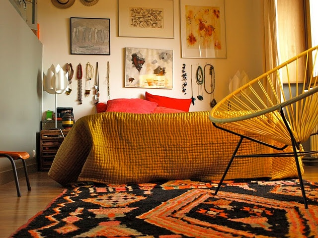 Artsy thrifty bedroom  For the Home  Pinterest  Happy