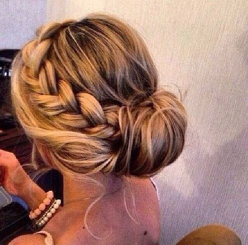 25 Best Ideas About Braided Bun Hairstyles On Pinterest Prom
