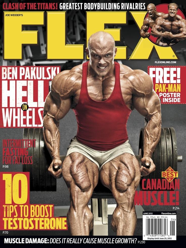 Flex Magazine cover June 2012 featuring Ben Pakulski fitness bodybuilding exercise  Flex