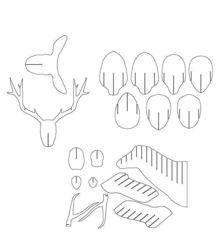 1000+ ideas about Cardboard Deer Heads on Pinterest
