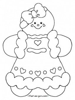 25+ best ideas about Gingerbread man template on Pinterest