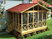 Outdoor , Cool and Unusual Backyard Deck Ideas : Covered ...
