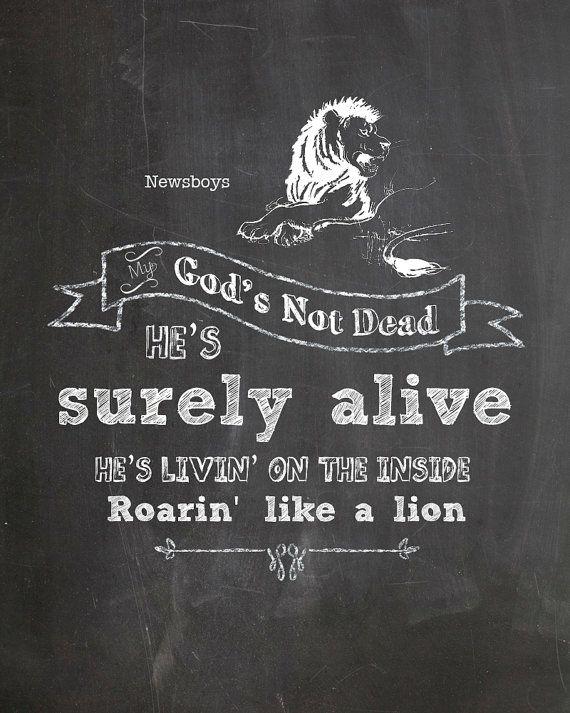 Gods Not Dead Chalkboard Art by AltusPhotoDesign on Etsy,