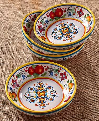 Global Gourmet Set of Four Italy Pasta Bowls  Lakeside