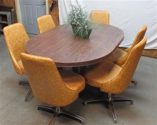 Harvest Gold Chromcraft Vintage Kitchen Table Chair Set