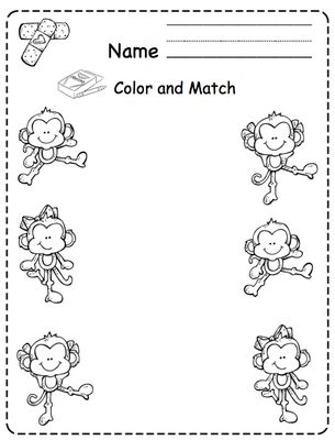 All Worksheets » Five Little Monkeys Jumping On The Bed