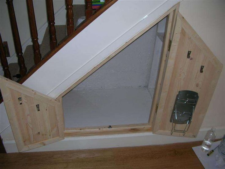 Under Stairs Storage Space  Cat litter boxes Stair