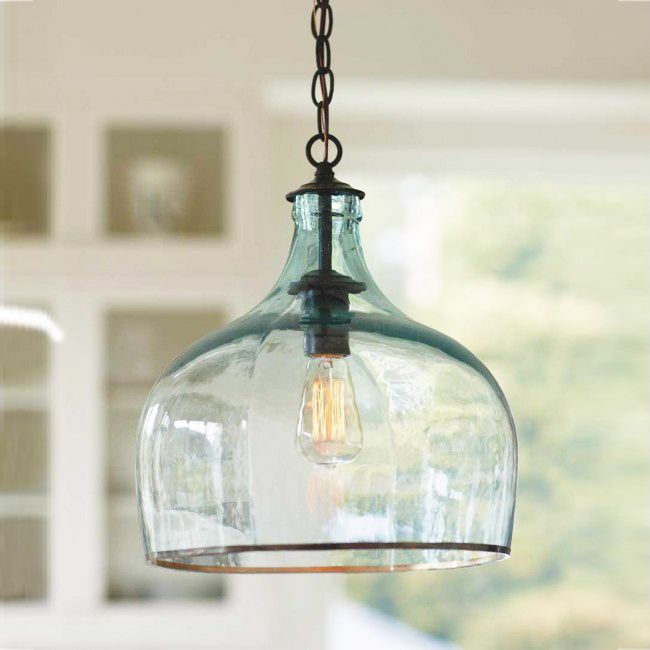Globo Glass Pendant Light  dotandbocom Great lines