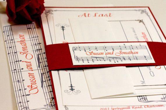 Music Notes Wedding Invitation Suite