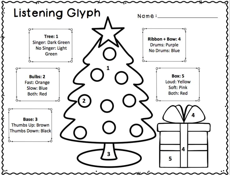 Christmas and Chanukah Listening Glyphs for Elementary