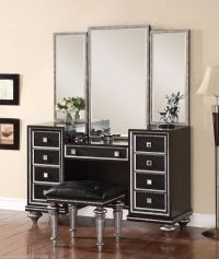 Hollywood Regency Glam Mirrored Console Cabinet Vanity ...