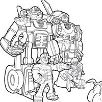 Rescue Bots Coloring Page (Can't believe I now value
