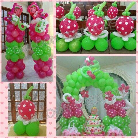 Strawberry Shortcake Themed Balloon Set Up Pinterest