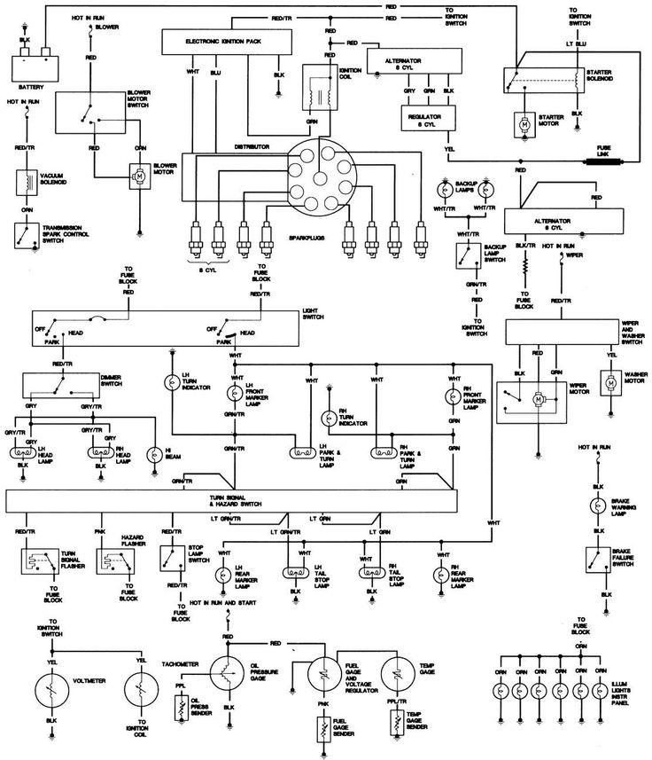 1974 cj5 wiring diagram light
