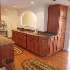 Distressed Kitchen Cabinets Hardwood Floor The Other Side Of Galley Style W/a Pass ...