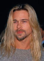classic brad pitt long hair hombres
