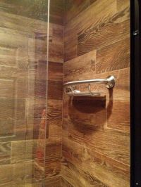 Wood tiled shower | Home | Pinterest | Faux wood tiles ...